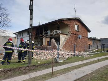 Wybuch gazu w Bełku, jedna osoba ranna, dom w ruinie!